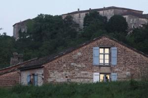Toitures du Moulin à Nef à Auvillar en haut
